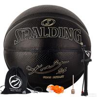 SPALDING 斯伯丁 24K 典藏篮球黑曼巴7号赛事PU篮球 76-419Z (黑色、7号、科比联名款)