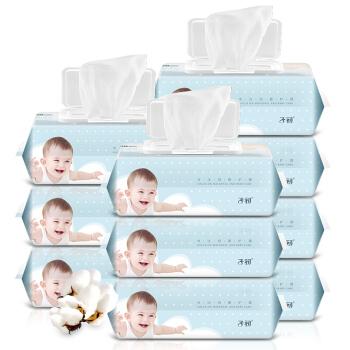 Springbuds 子初 6941499810067 婴儿手口柔湿巾 90抽*10包