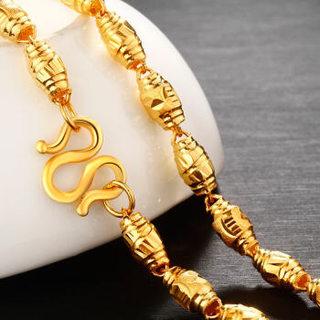 钻石快线 ZSK 黄金项链男士 全橄榄黄金项链 足金项链金链子男款 15.35克 长约50厘米