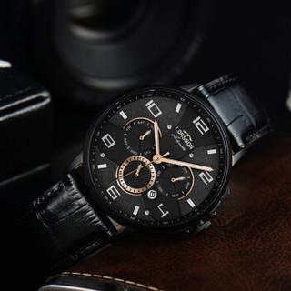 罗臣LORSSON男士手表新品 德国品牌匠心系列多功能夜光机械表 LC3316