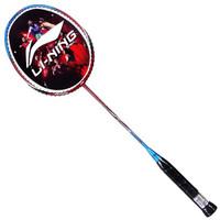 LI-NING 李宁 羽毛球拍对拍单拍轻型正品初学适用训练耐打耐用型羽球拍双拍 红蓝情侣对拍(活动送羽毛球)