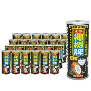 椰树 椰子汁 植物蛋白饮料 245ml*24罐 整箱装