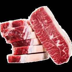 西捷 澳洲进口谷饲原切牛排1500g10片牛排 牡蛎雪花纹理牛扒团购家庭套餐 *2件