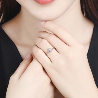 花好玉缘 飞舞 PT950铂金戒指 白金戒指/求婚戒指/情侣对戒女款  BJJ035 2.2g