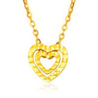 如金岁月 18K黄金项链套链 含18K黄金吊坠和18K黄金项链女款心形 KJD118