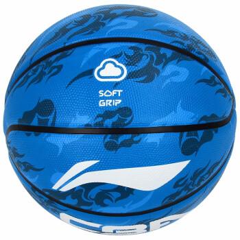 LI-NING 李宁 篮球CBA室内外训练耐打蓝球 水泥地耐磨橡胶LBAK607-47号篮球 LBAK607 (蓝色、7号)