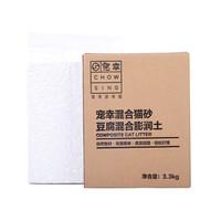 CHOWSING 宠幸 膨润土豆腐猫砂混合砂 黄色 3.3kg