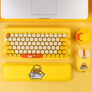 LOFREE 洛斐 B.Duck DOT圆点蓝牙机械键盘 无线复古键盘 iPad苹果笔记本键盘 小黄鸭键鼠套装