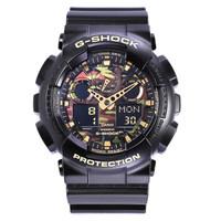 历史低价:CASIO 卡西欧 GA-100CF-1A9 男士运动手表