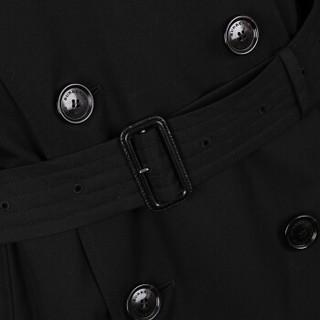 BURBERRY 博柏利 男士黑色棉质长款风衣 40737441 52码