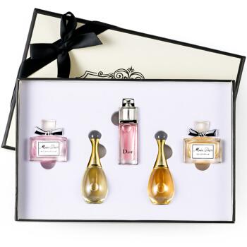 Dior 迪奥 女士香水小样套装 甜心+花漾+魅惑+真我淡香+浓香 五件套送礼盒礼袋