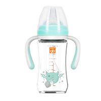 gb好孩子 仿母乳质感宽口径握把吸管婴儿玻璃奶瓶 天使饿魔形象系列 260mL *4件