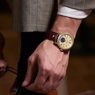 坤格(Kronsegler)德国进口手表 哥白尼日心说纪念版男士手表防水自动机械表 KS779.YG