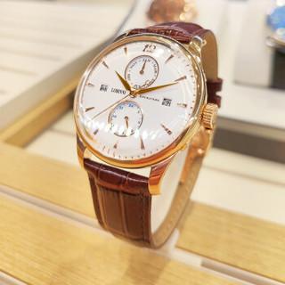罗宾尼(LOBINNI) 男士手表 全自动手表男机械表镂空 防水商务月相瑞士手表男表 1803