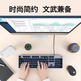 Logitech 罗技 K845 机械键盘 有线键盘 办公键盘 全尺寸 单光 黑色 TTC轴 茶轴