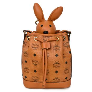 MCM 女士棕色兔型摆件抽绳式水桶包单肩包斜挎包 MYZ8AXL45CO001