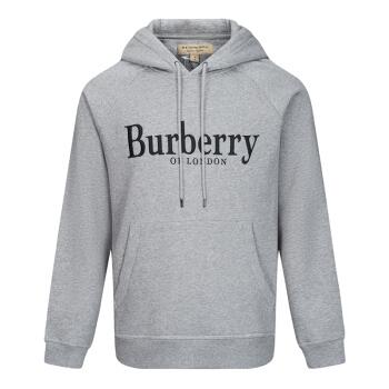 BURBERRY 博柏利 男士灰色混纺连帽套头衫   26961835