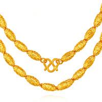 CEMNI 千年 珠宝 黄金项链 全橄榄足金999土豪项链 金链子显粗男女款 CD9045