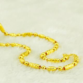 JD JEWERAY 金地珠宝 AUSGXL0084 足金岚鑫男士项链 男士黄金项链 金项链男款 约23.84克 链长约51cm 面宽约4.3mm