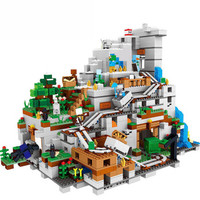 Minecraft 我的世界 积木兼容乐高拼插积木套装男孩儿童 6-10-12岁益智玩具 【特价商品】新版机关山洞