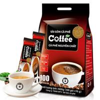 SAGOCOFFEE 西贡 速溶咖啡粉袋装冲饮炭烧原味特浓 1600g 100条 (袋装)