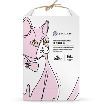 Drymax 洁客 植物无尘活性炭豆腐破碎猫砂 白色 6L (4-10L)