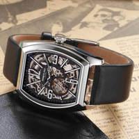 凯尼斯柯尔(Kenneth Cole)手表 男 机械表镂空腕表方形表盘商务酒桶型手表 KC1750