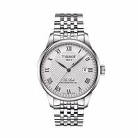 天梭(TISSOT)瑞士手表 力洛克系列机械男表 全自动机械表 T006.407.11.033.00白钢白盘