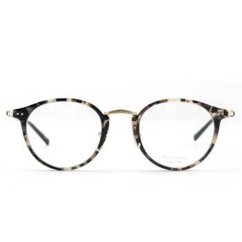 masunaga 增永眼镜男女复古手工全框眼镜架配镜近视光学镜架GMS-819 #69 浅玳瑁色