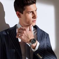 罗西尼(ROSSINI)手表 雅尊商务时尚防水日历男士自动机械表情侣女表男式腕表  517811