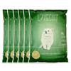 爱宠爱猫 低粉尘猫沙豆腐砂6升  6包 绿色