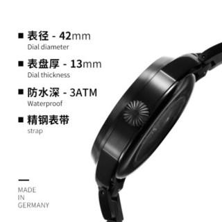 朗坤(Laco)德国进口手表男士手表自动机械表经典夜光防水腕表 海军系列 850009