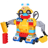 汇高 积木大颗粒玩具 男孩女孩立体拼装插婴幼儿童早教智力启蒙欢乐高配装 110粒百变小汽车
