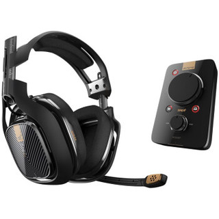 Logitech 罗技 电竞耳机麦克风+Mixamp音频控制器     罗技A40