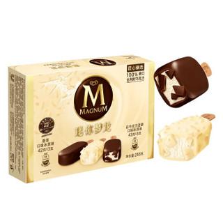 和路雪 迷你梦龙 香草口味+白巧克力坚果口味 冰淇淋 6支 *4件