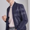 Hodo 红豆 男装 商务休闲时尚防风拉链螺纹袖口男士修身夹克 HWJ5J3183