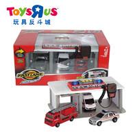 玩具反斗城 极速快线 紧急救援中转站救护车警车消防车套装 63767