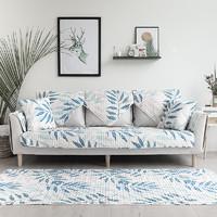 简约几何布艺全棉北欧沙发垫冬季沙发套罩沙发靠背巾四季通用垫子 70*70cm