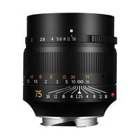 7artisans 七工匠 75mm f1.25 微单镜头 (黑色、徕卡M口、f1.25、62mm、标准定焦)
