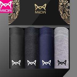 Miiow 猫人 MR201805182100 男士棉质四角内裤
