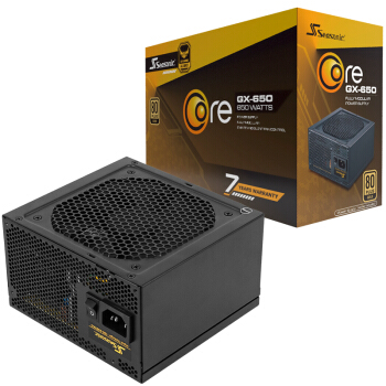 SEASONIC 海韵 CORE GX-650 金牌全模组电源 额定650W