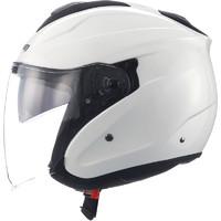 马鲁申 L11 双镜片半盔玻璃钢轻量化摩托车头盔
