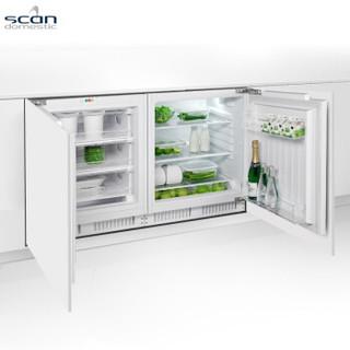 Scandomestic 丹麦诗凯 BUF 100A+ BUF 130A+ 家用小型横式嵌入式mini冰箱 (235升、2级、变频)