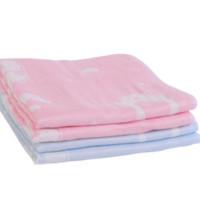 棉小兜 宝宝盖毯空调被 纯棉纱布 100*130cm