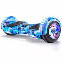 Z-RC 双轮电动平衡车代步体感车蓝牙平衡车儿童扭扭车两轮思维车平衡车发光轮款迷蓝   6.5寸平衡车