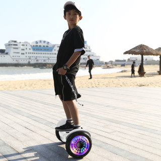 Maikula 麦酷拉 两轮成人儿童伸缩智能APP体感车代步车双轮10吋大轮思维扭扭电动车白 平衡车