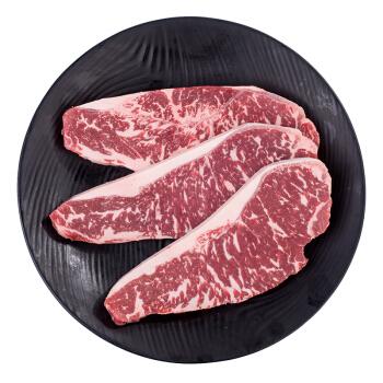 天谱乐食 澳洲M5和牛西冷 原切牛排套餐 450g/套(3片) 谷饲和牛肉生鲜 *2件