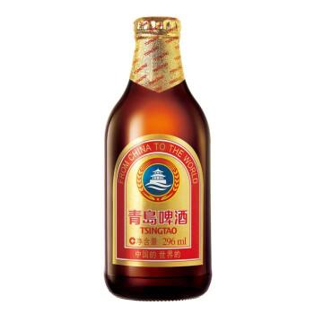 TSINGTAO 青岛啤酒 黄啤酒 (330mL以下、24、瓶装)