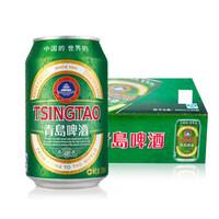 TSINGTAO 青岛啤酒 黄啤酒 (330mL、24、听装)