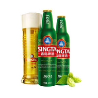 TSINGTAO 青岛啤酒 黄啤酒 (331-499mL、12、瓶装)
